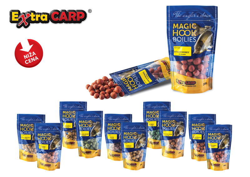 Extra carp MAGIC HOOK BOILIES 200gr