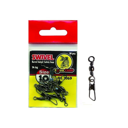 Extra carp Barrel swivel safety snap virbla sa kopčom